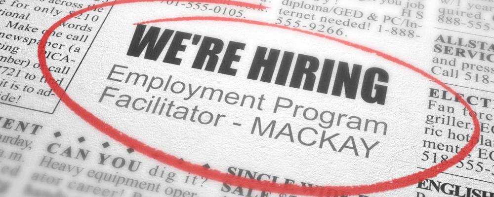 NOW CLOSED -VACANCY – Employment Program Facilitator
