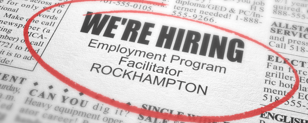 NOW CLOSED – VACANCY – Employment Program Facilitator
